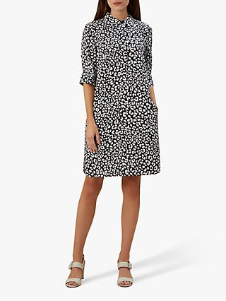 Hobbs Marciella Dress, Navy/Ivory