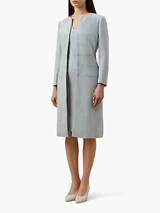 Hobbs Jenny Tailored Coat, Ice Blue