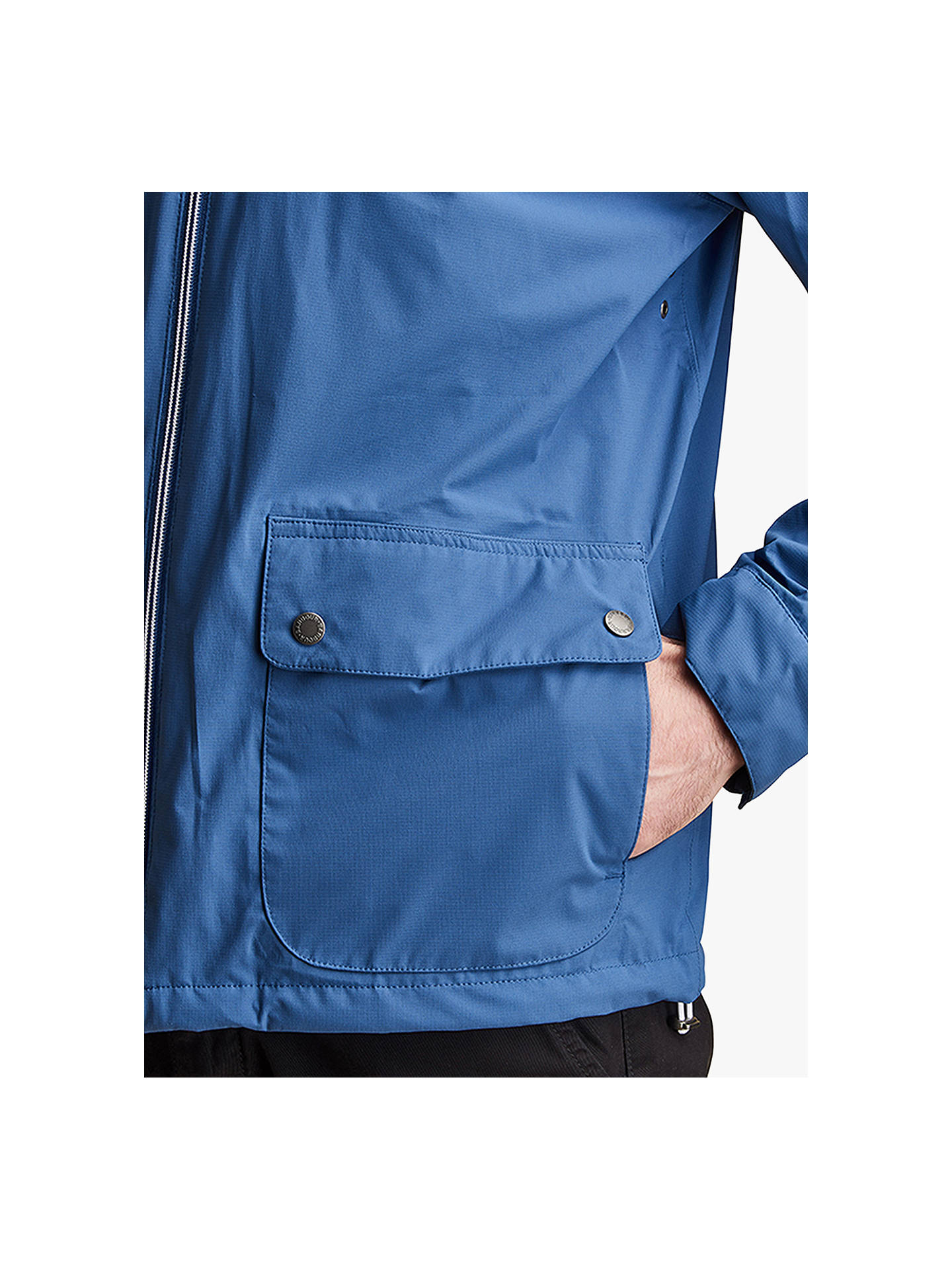 4906f2b61a34d ... Buy Barbour Howtown Waterproof Jacket, Loch Blue, S Online at  johnlewis.com ...