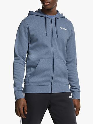 adidas Essentials Linear Full Zip Hoodie, Legend Earth