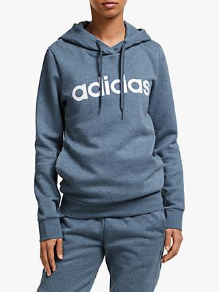 adidas Essentials Linear Pullover Hoodie, Tech Ink Mel