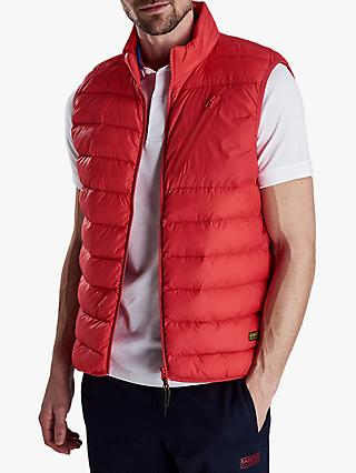 Barbour International Brake Quilted Gilet, Race Red
