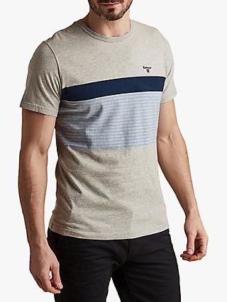 Barbour Braeside Stripe T-Shirt, Light Grey Marl