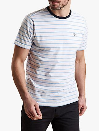 Barbour Portree Yarn Dyed Stripe T-Shirt, Ocean Blue