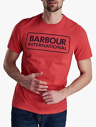 Barbour International Essential Large Logo T-Shirt, Race Red