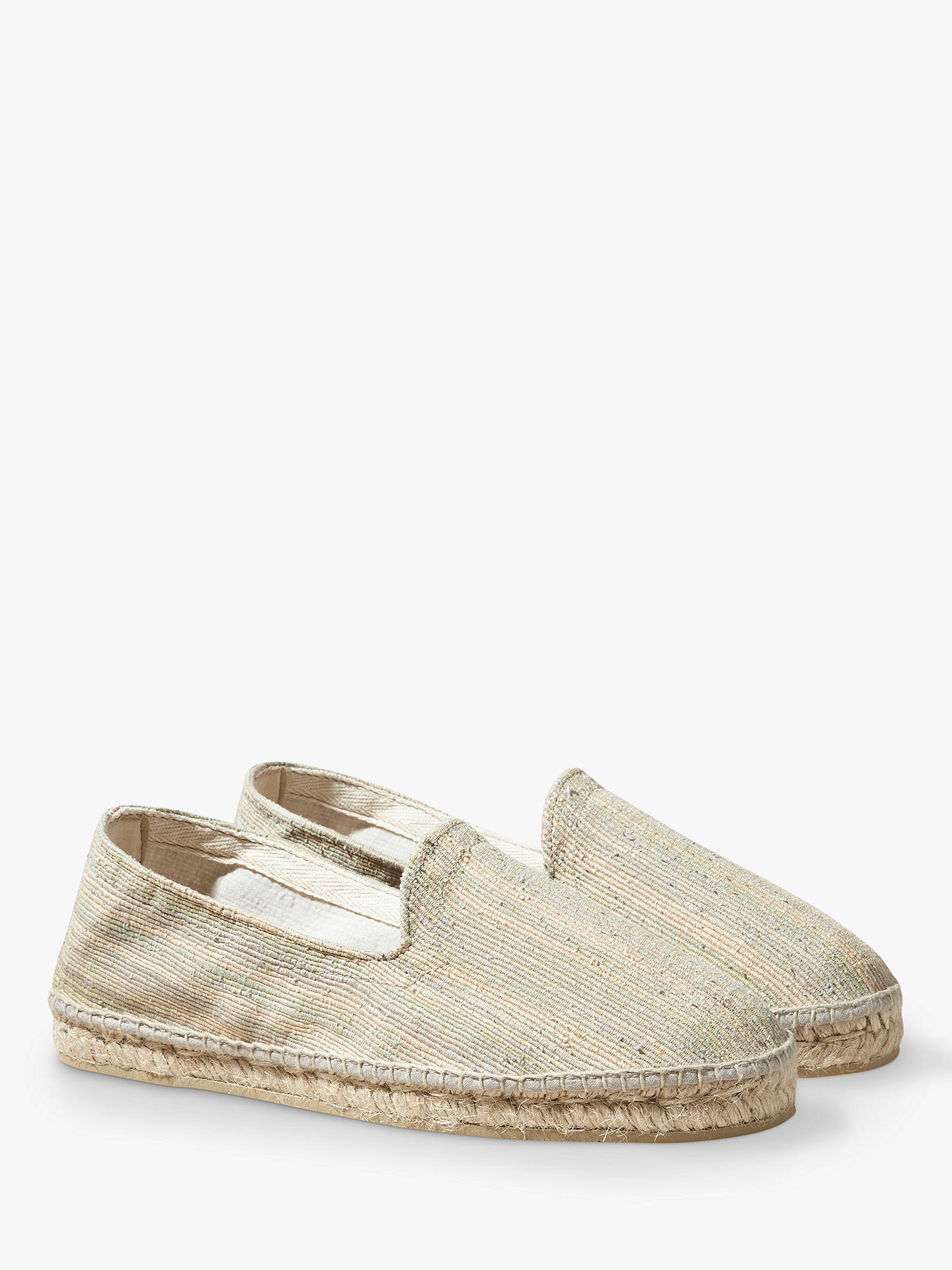 acd3eaa04 Buy OAS Textured Espadrilles, Natural, S Online at johnlewis.com ...