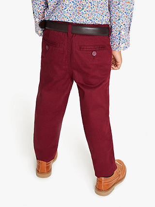 New John Lewis Heirloom Boys Party Trousers Burgundy Red RRP 20 ...