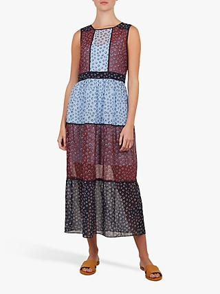 Ted Baker Colour By Numbers Thyliaa Floral Dot Midi Dress, Red/Multi