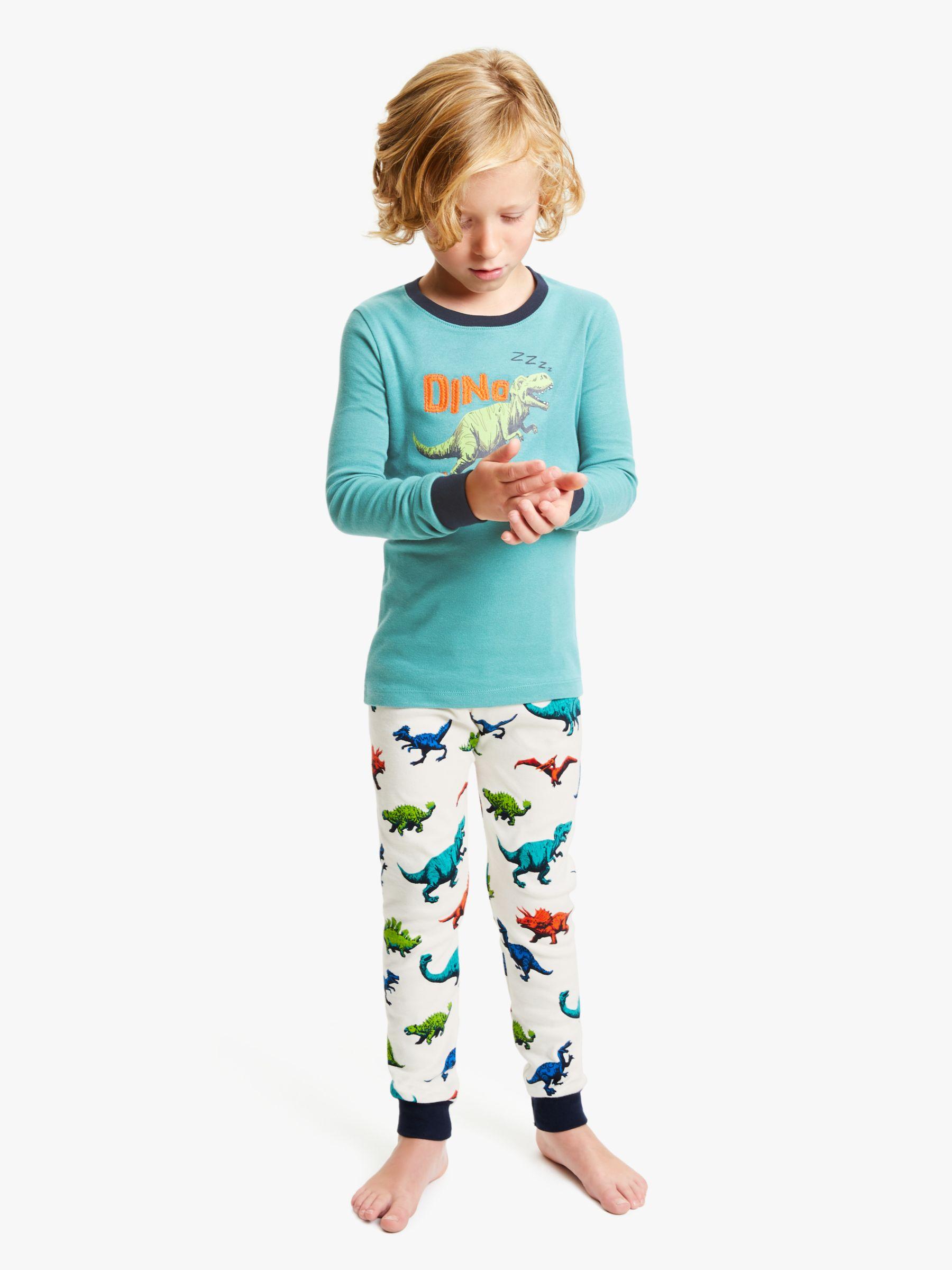 Hatley Hatley Boys' Dinosaur Herd Applique Pyjamas, Green/Multi