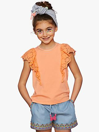 Outside the Lines Girls' Broderie Frill T-Shirt