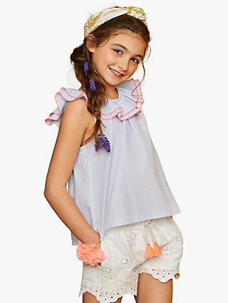 Outside the Lines Girls' Cross Over Blouse, Blue