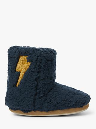 John Lewis & Partners Children's Lightning Slipper Boots, Navy