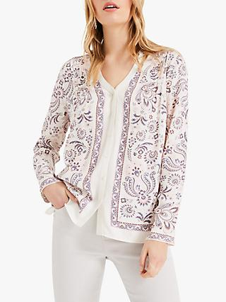 Phase Eight Asha Paisley Print Blouse, Ivory/Multi