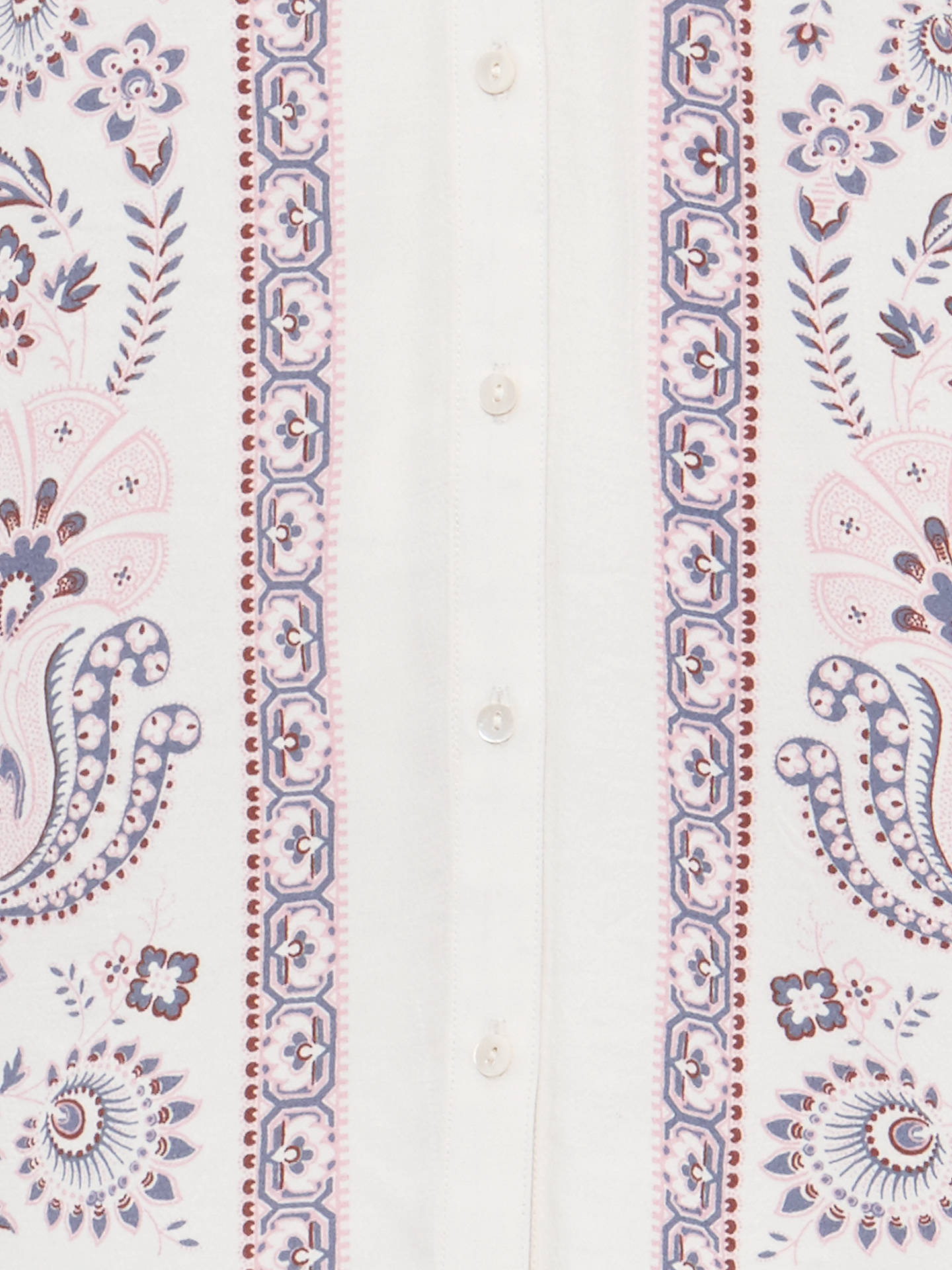 Buy Phase Eight Asha Paisley Print Blouse, Ivory/White, 12 Online at johnlewis.com