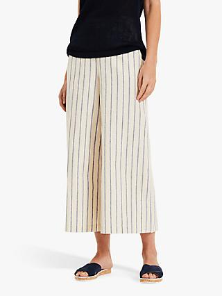 Phase Eight Lottie Wide Leg Culottes, Blue White