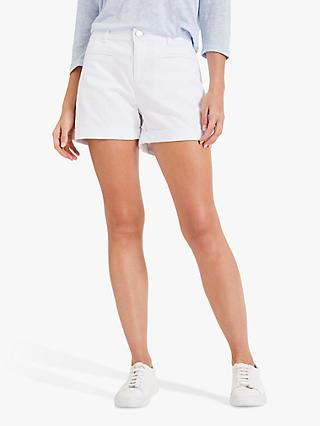 Phase Eight Una Denim Shorts, White