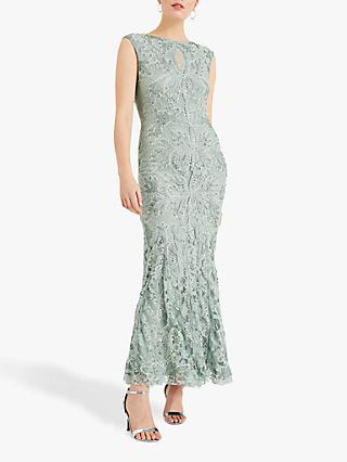 Phase Eight Collection 8 Paige Tapework Lace Maxi Dress, Peppermint