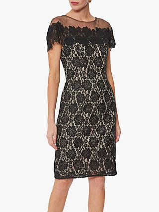 Gina Bacconi Kathaleen Lace Dress, Black