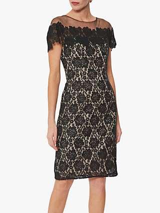 Gina Bacconi Kathaleen Lace Dress, Black