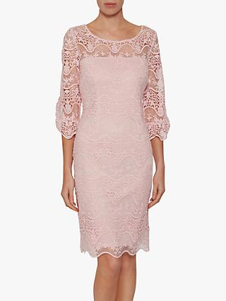 Gina Bacconi Roxani Wavy Embroidered Dress