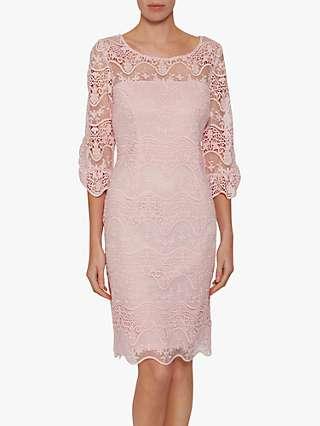 Gina Bacconi Roxani Wavy Embroidered Dress