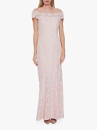 Gina Bacconi Oriole Embroidered Lace Maxi Dress
