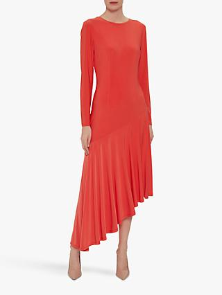 d05c4d9b9cd Gina Bacconi Kayra Concertina Hem Midi Dress