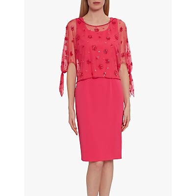 Product photo of Gina bacconi emiko lace overlay dress