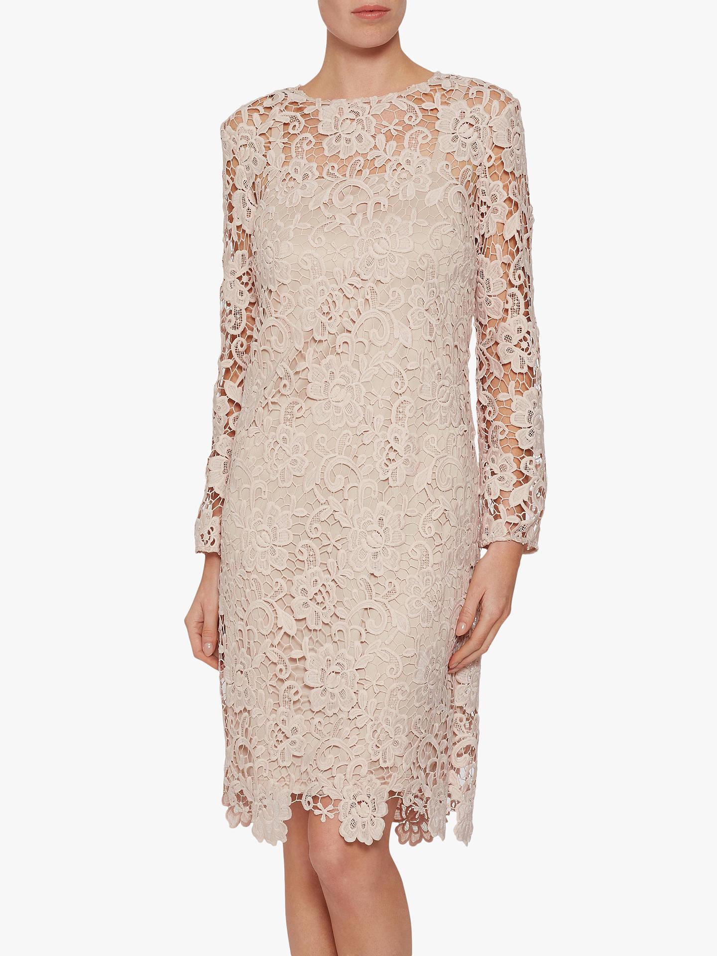 832edc55cb Buy Gina Bacconi Lorenza Lace Maxi Dress, Antique Rose, 8 Online at  johnlewis.