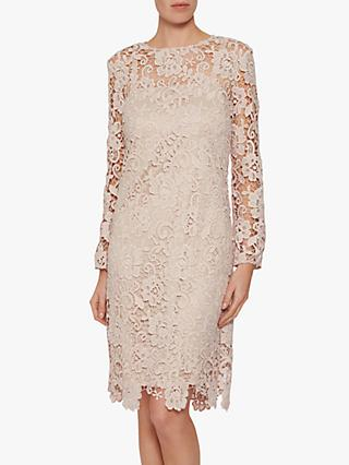 Gina Bacconi Lorenza Lace Maxi Dress, Antique Rose