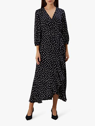 Hobbs Lucinda Dress, Navy/Ivory