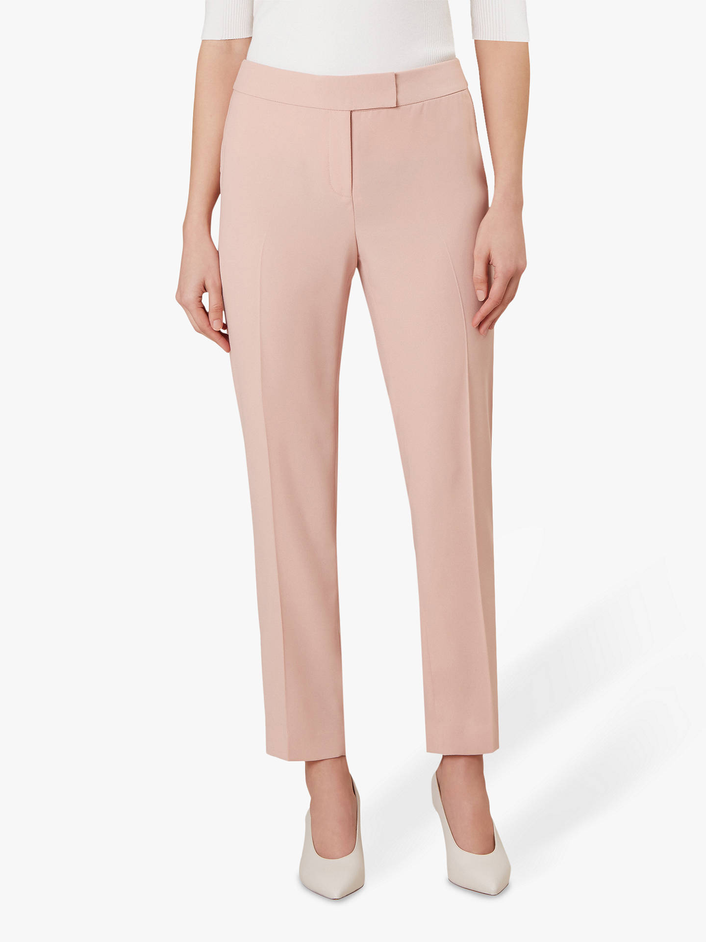 49ee58212114 Buy Hobbs Adelaide Trousers, Ballet Pink, 6 Online at johnlewis.com ...