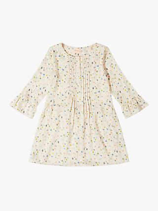 Jigsaw Girls' Meadow Pop Print Dress, Blush