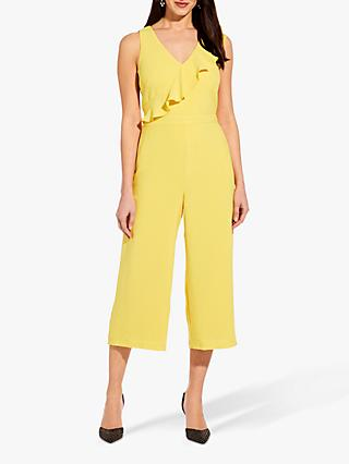Adrianna Papell Crepe Jumpsuit, Canary Yellow