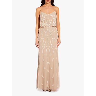 Adrianna Papell Popover Maxi Dress, Biscotti