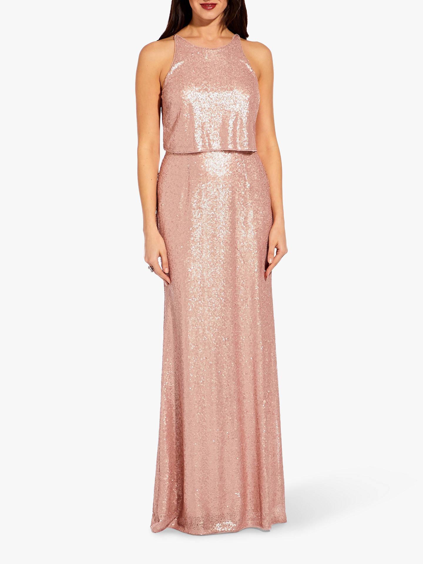 ae3613ba3b Adrianna Papell Sequin Maxi Dress, Blush