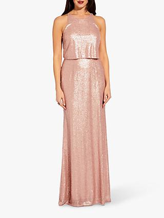 Adrianna Papell Sequin Maxi Dress, Blush