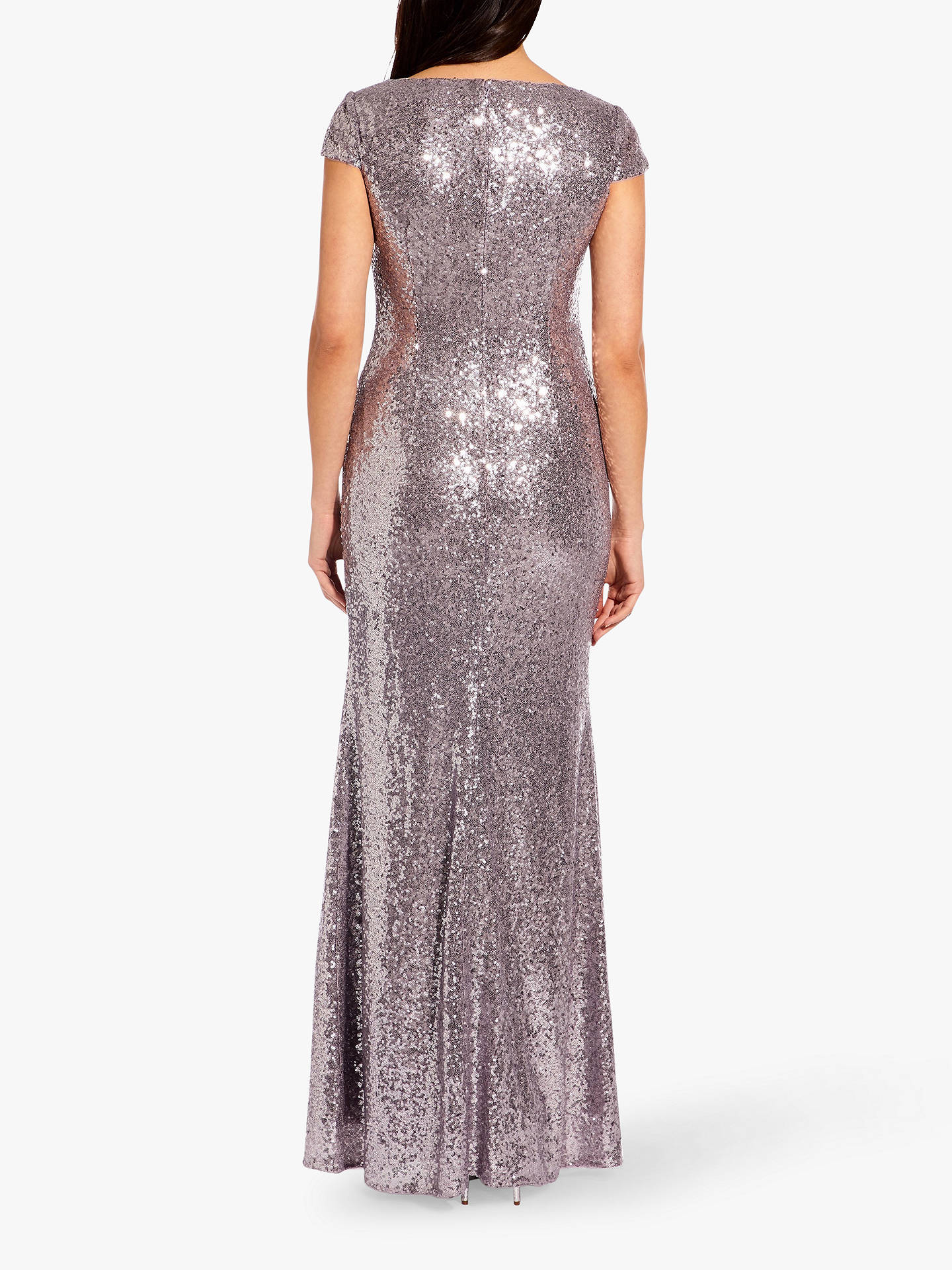 8014f1d79f ... Buy Adrianna Papell Plus Cap Sleeve Sequin Maxi Dress, Lilac Grey, 20  Online at ...