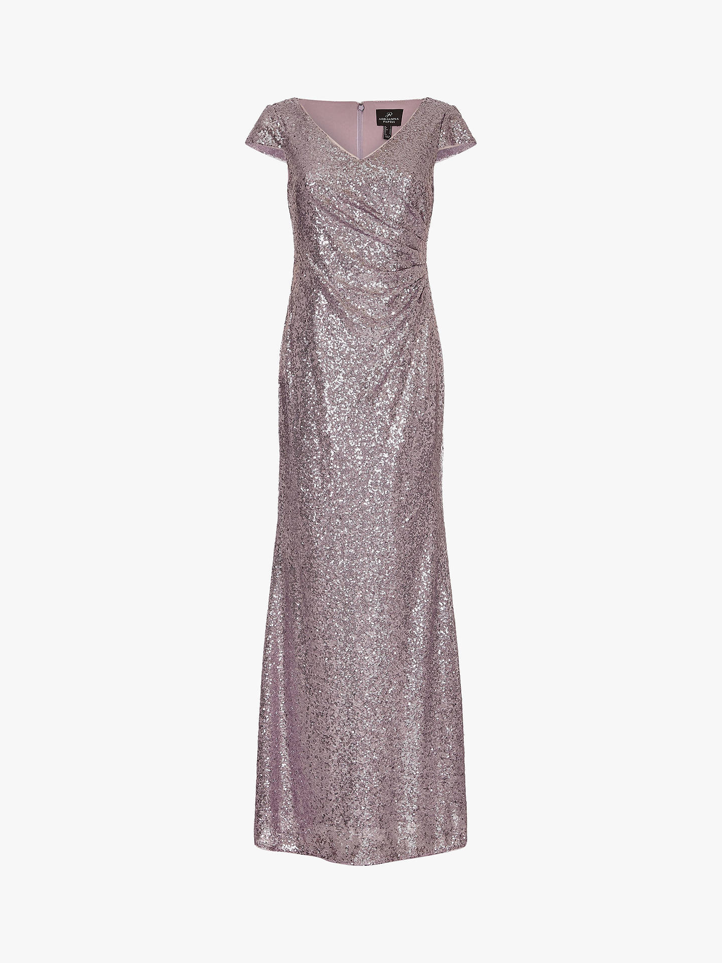 c19cd57b ... Buy Adrianna Papell Plus Cap Sleeve Sequin Maxi Dress, Lilac Grey, 20  Online at ...