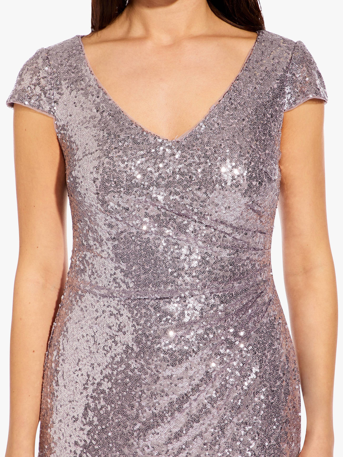 fd8681ba ... Buy Adrianna Papell Plus Cap Sleeve Sequin Maxi Dress, Lilac Grey, 20  Online at