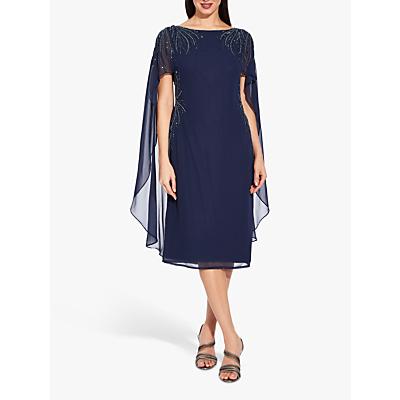 Adrianna Papell Beaded Short Dress, Midnight