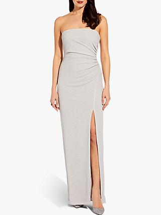 Adrianna Papell Foil Jersey Dress, Silver