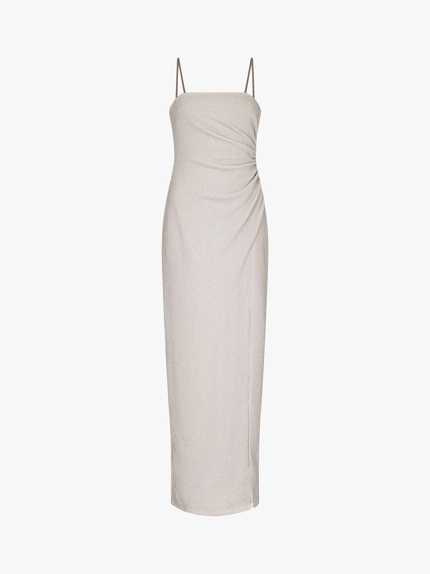Buy Adrianna Papell Foil Jersey Dress, Silver, 8 Online at johnlewis.com