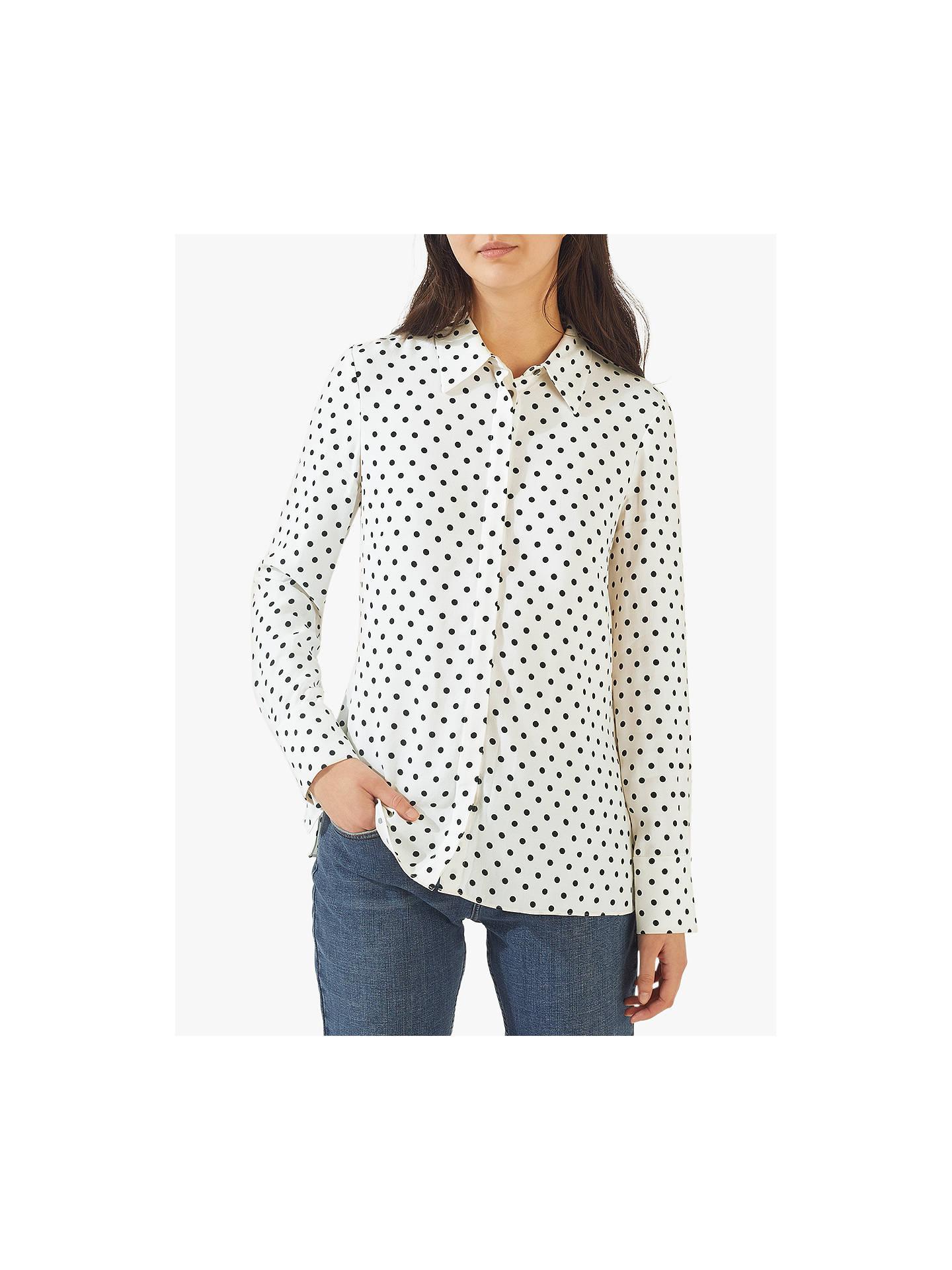 Jigsaw Spot Print Shirt, White by Jigsaw