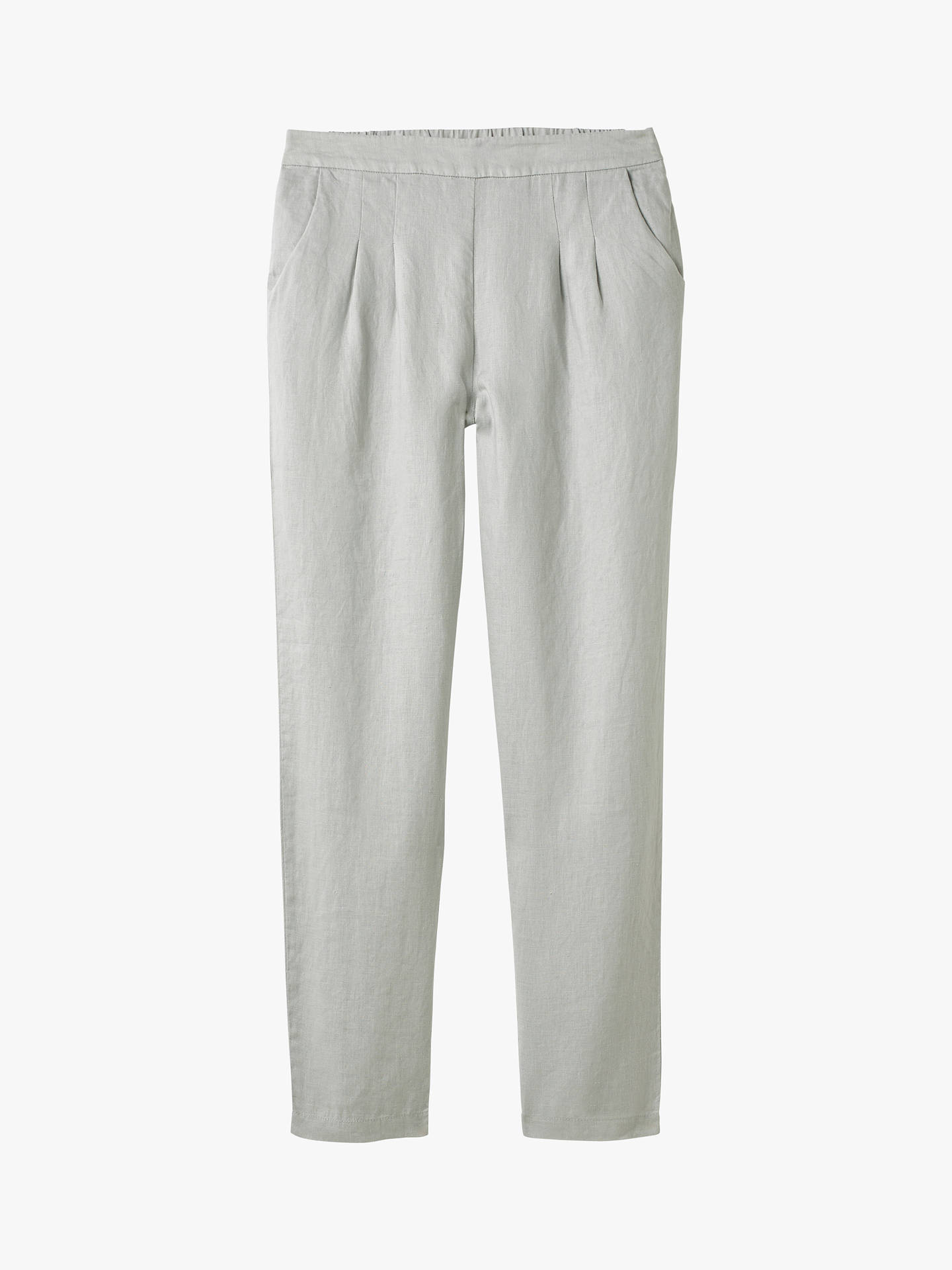 Buy White Stuff Maison Linen Trousers, Grey, 6R Online at johnlewis.com