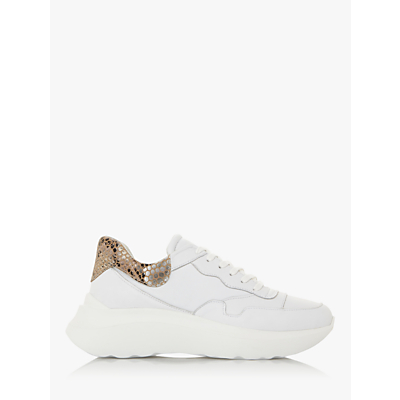 Dune Ebben Low Top Trainers, White Leather