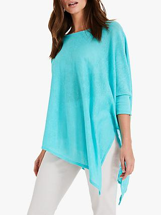 Phase Eight Melinda Asymmetric Linen Jumper, Lagoon
