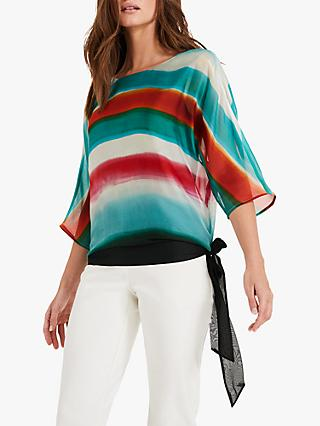 1cbceeaaeba3c Phase Eight Ayca Silk Blurred Striped Blouse