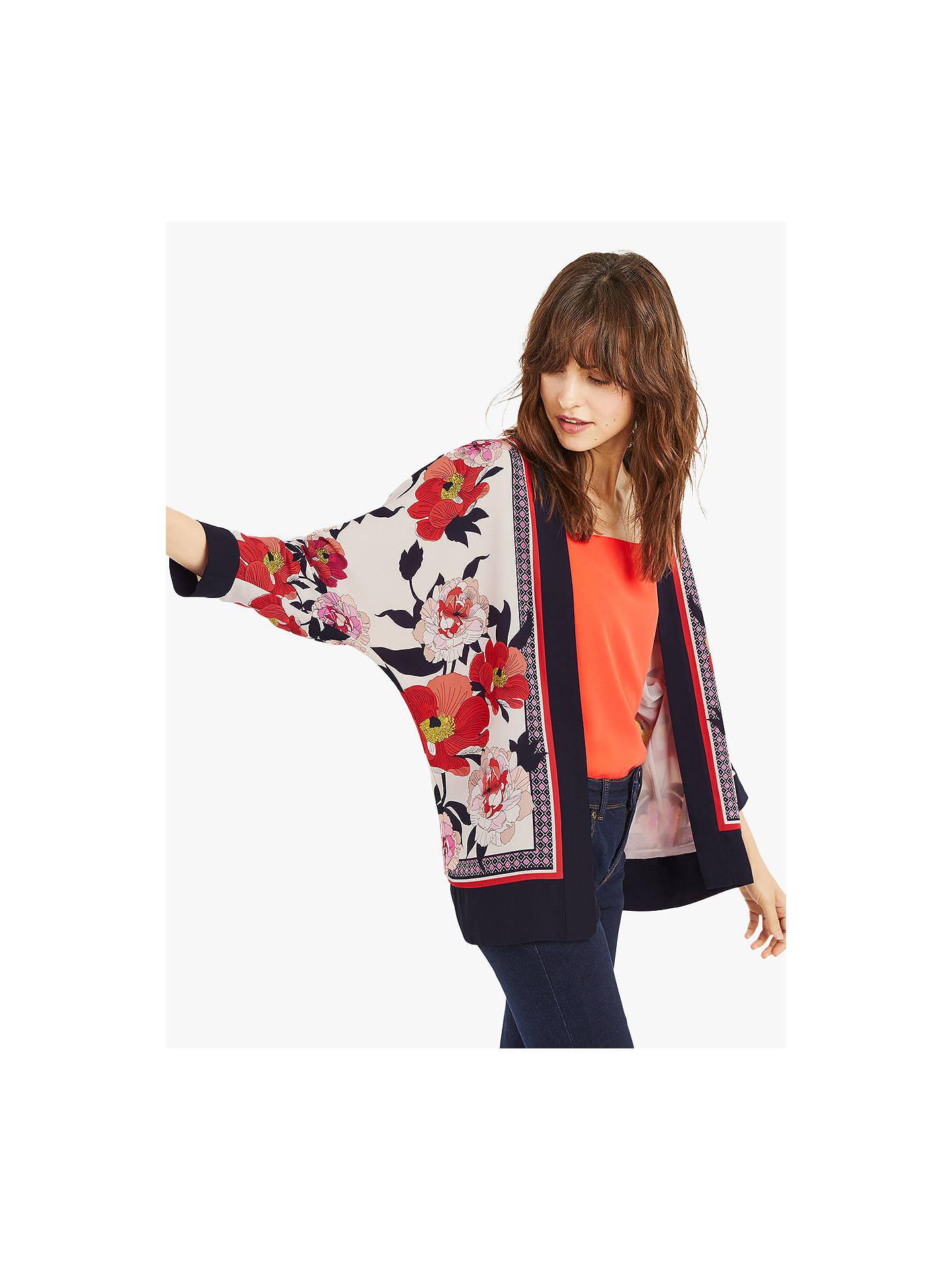 2bd4303fd51b Buy Oasis Floral Scarf Print Kimono Jacket, Multi/Natural, 6 Online at  johnlewis ...