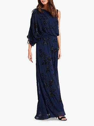 Phase Eight Shirley Embellished Dress, Sapphire